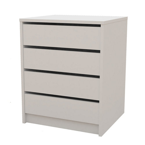 Cajonera 4 cajones serie abierta blanco 61.4x50x44cm (altoxanchoxfondo cm)