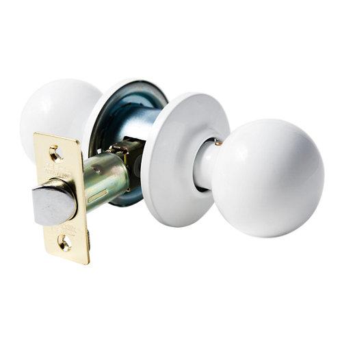 Pomo de puerta con mecanismo para puerta de interior en latón