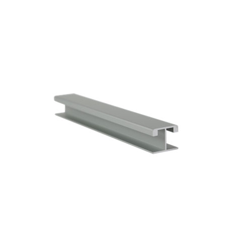 Unión recta para zócalos en aluminio plata