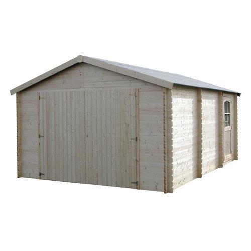 Garaje de madera garodeal para 1 coche (menos de 15 m²) de 403 x 266 x 522 cm