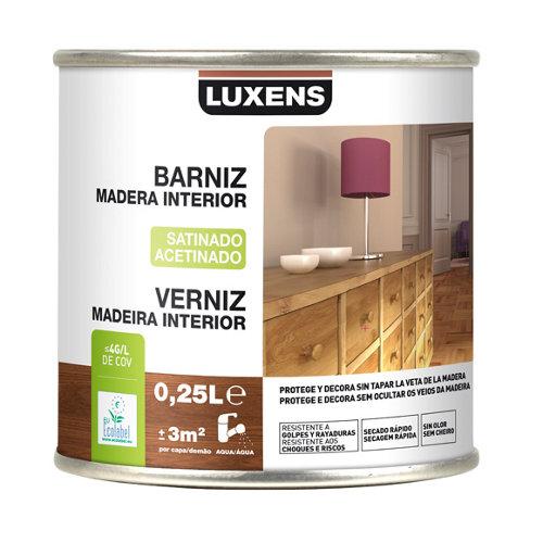 Barniz de interior luxens wengué satinado 0,25l