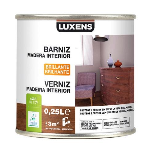 Barniz de interior luxens nogal brillo 0,25l