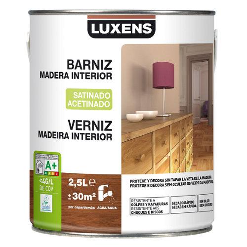 Barniz de interior luxens satinado incoloro 2,5l