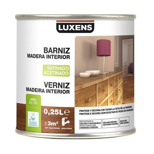 Barniz de interior luxens satinado incoloro 0,25l