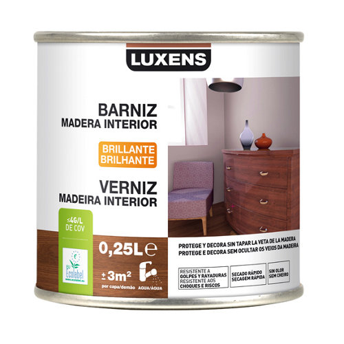Barniz de interior luxens brillo incoloro 0,25l