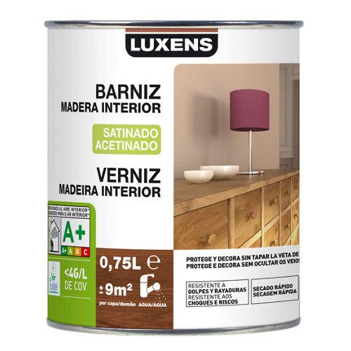 Barniz de interior luxens satinado incoloro 0,75l