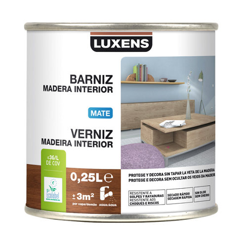 Barniz de interior luxens gris zinc mate 0,25l