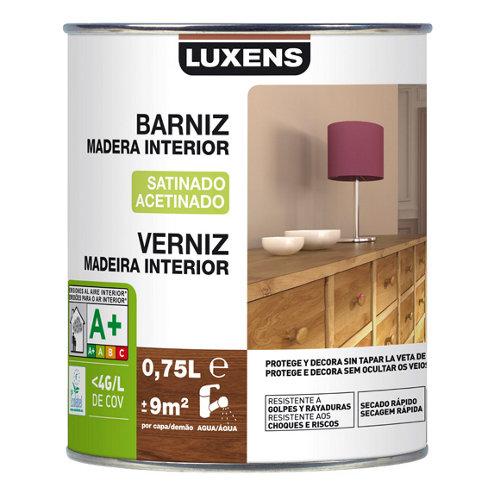 Barniz de interior luxens satinado nogal 0,75l