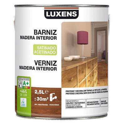 Barniz de interior LUXENS wengué satinado 2,5L