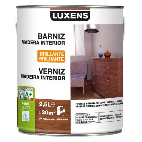 Barniz madera de interior luxens caoba brillo 2,5l