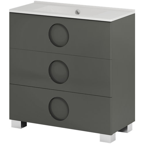 Mueble de baño sphere grafito 80 x 45 cm