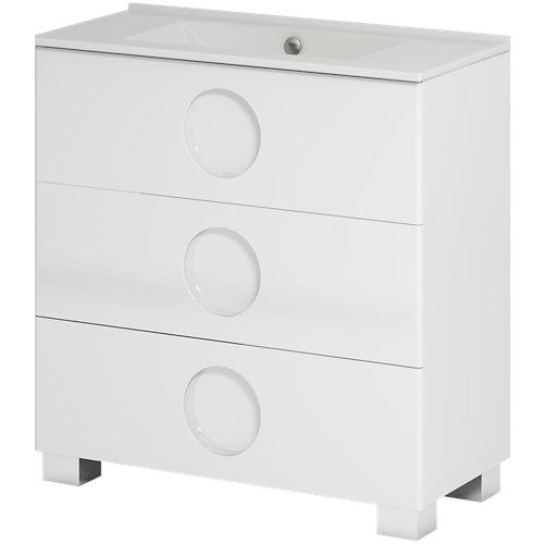 Mueble de baño sphere blanco 100 x 45 cm