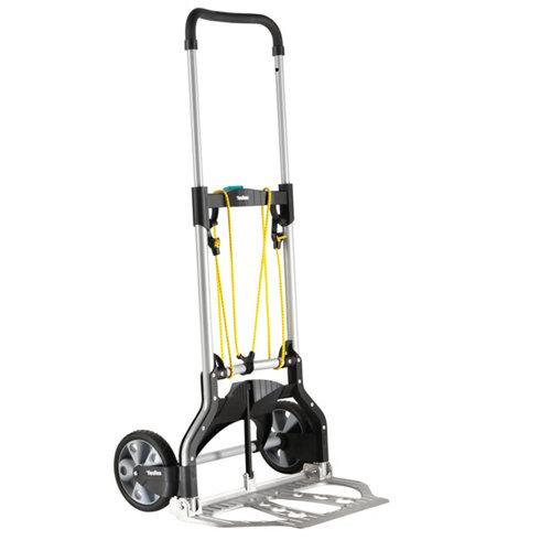 Carretilla plegable con ruedas macizas y 100 kg de carga máxima
