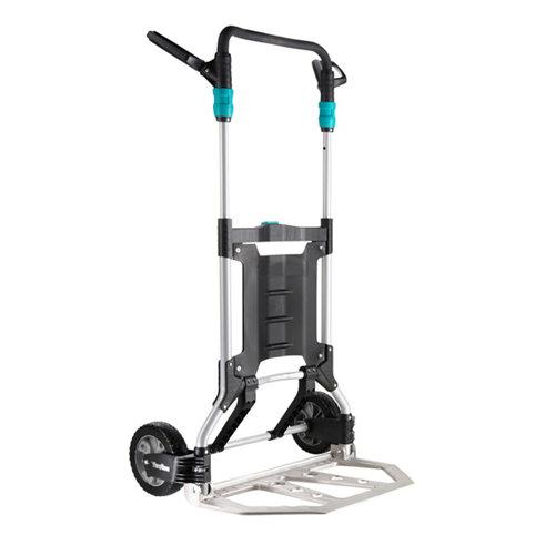 Carretilla plegable con ruedas macizas y 200 kg de carga máxima