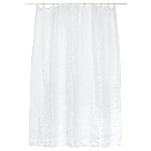 Cortina baño números transparente peva 180x200 cm