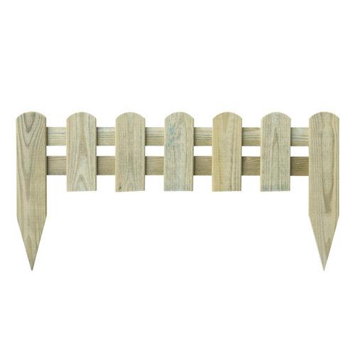 Bordura de madera de pino tratada para exterior 30x60 cm