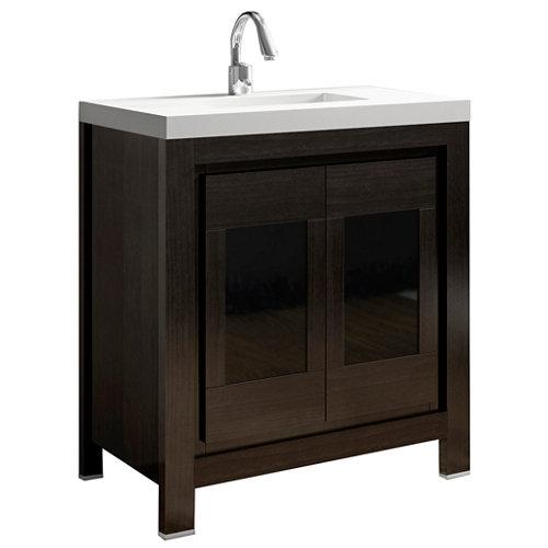 Mueble baño versalles marrón 80 x 45 cm