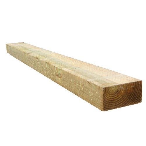 Traviesa de madera de pino tratada para exterior 10x20x205 cm