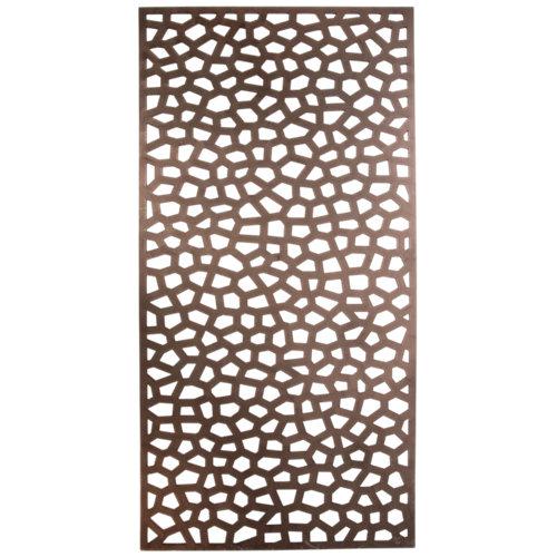 Celosía fija de pvc mosaic marrón 200x100 cm