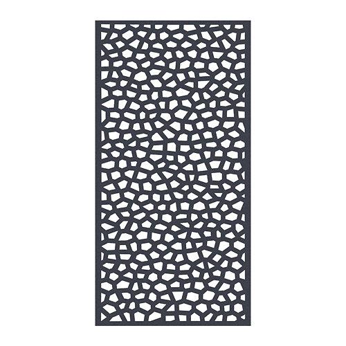 Celosía fija de pvc mosaic gris 200x100 cm