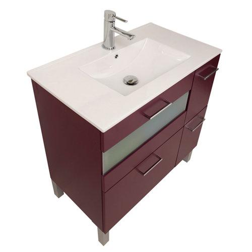 Mueble de baño fox berenjena 80 x 48 cm