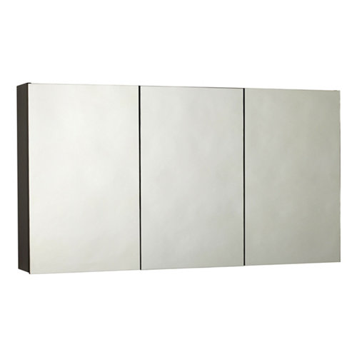 Armario de baño con espejo fox negro 120x65x14 cm