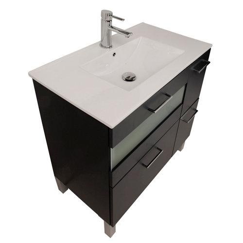 Mueble baño fox negro 80 x 45 cm