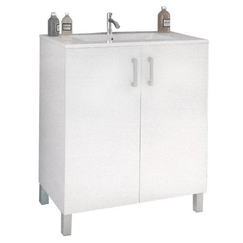 Mueble de baño eco blanco 80 x 45 cm