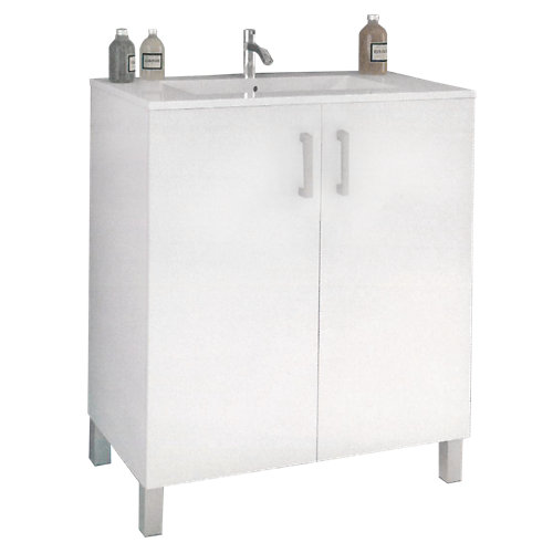 Mueble de baño eco blanco 60 x 45 cm