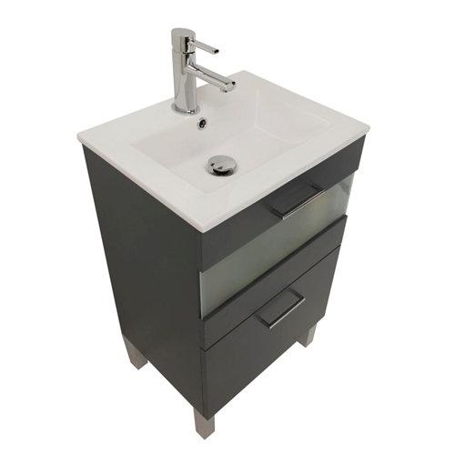 Mueble de baño fox gris 50 x 40 cm