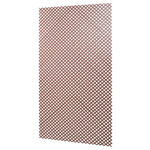 Celosía fija de composite de resina y madera marrón claro 100 x 200 cm