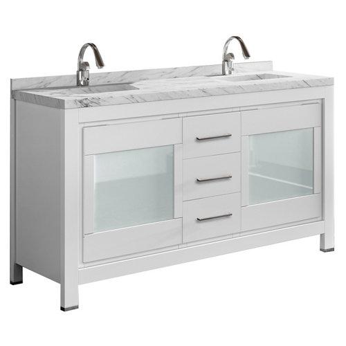 Mueble baño versalles blanco 150 x 45 cm