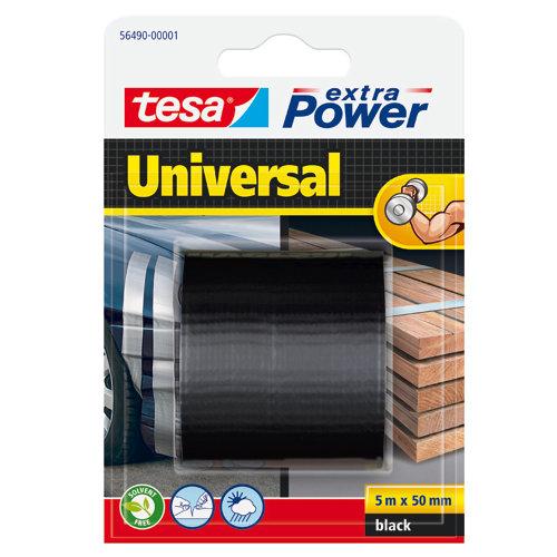 Cinta adhesiva de reparación extra power negro 5m x 50mm