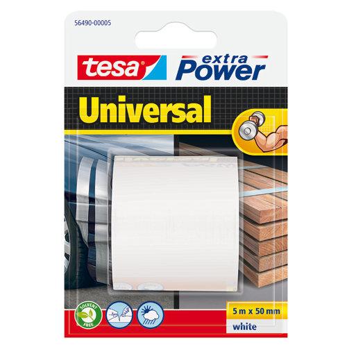 Cinta adhesiva de reparación extra power blanco 5m x 50mm