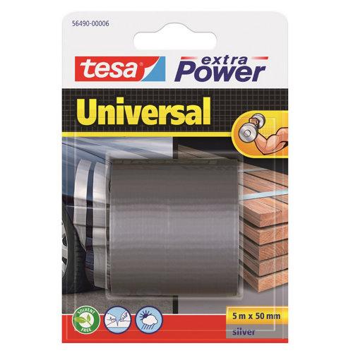 Cinta adhesiva de reparación extra power plata 5m x 50mm