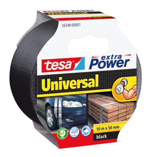 Cinta adhesiva de reparación extra power negro 10m x 50mm