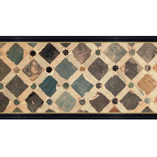 Cenefa adhesiva de papel imitación cerámica mosaico 5 m