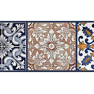 Cenefa Adhesiva De Papel Imitación Cerámica Azulejos 5 M Leroy Merlin