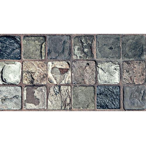 Cenefa adhesiva de papel imitación gresite piedra 5 m