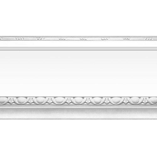 Cenefa adhesiva de papel imitación moldura plata 5 m