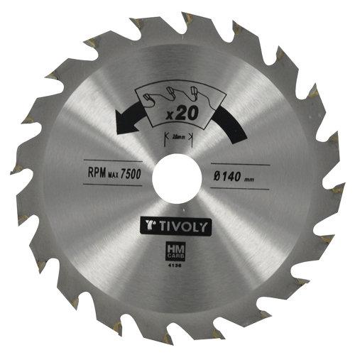 Hoja de sierra para madera tivoly xt50514004172 de 20 mm