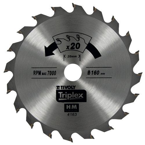 Hoja de sierra para madera tivoly xt50514004179 de 20 mm