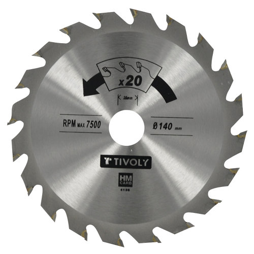 Hoja de sierra para madera tivoly xt50514004435 de 30 mm