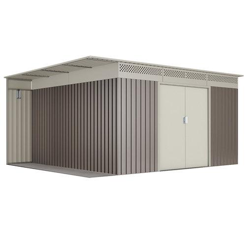 Caseta de metal uppsala de 397x191x333 cm y 13.22 m2
