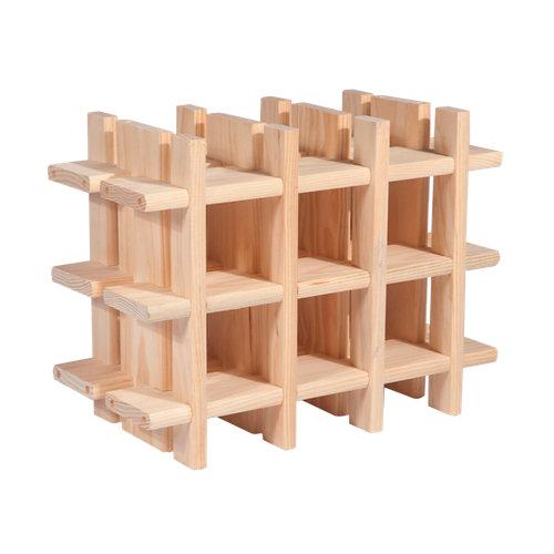 Botellero de madera para menos de 25 botellas de 43x32.5x22 cm