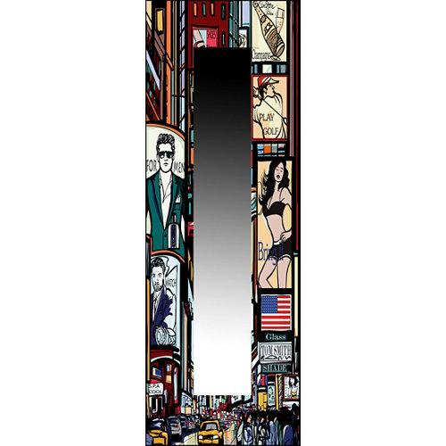 Espejo rectangular alto brillo negro 150 x 50 cm