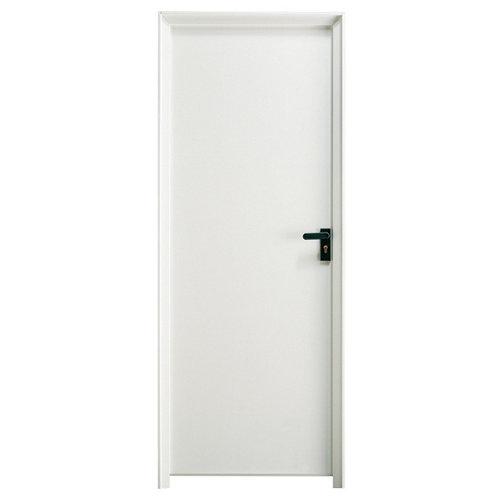 Puerta de servicio izquierda blanco/acero lacado blanco de 200x79 cm