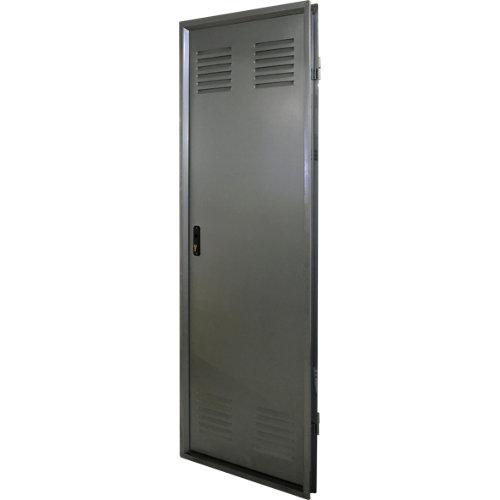 Puerta de servicio derecha acero galvanizado/acero galvanizado de 200x80 cm