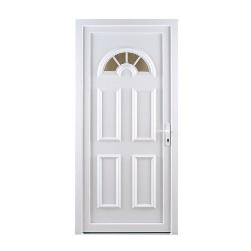 Puerta de entrada pvc ibiza blanco izquierda de 98x208 cm