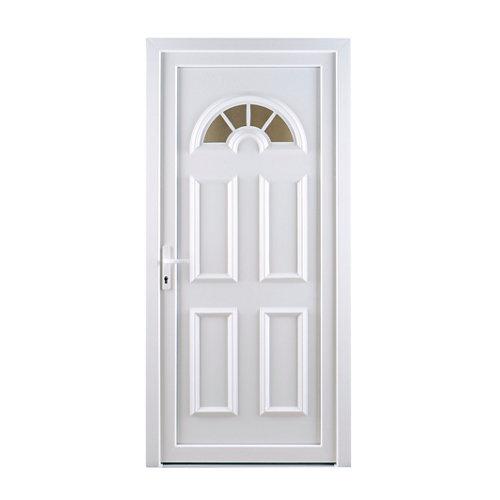 Puerta de entrada pvc ibiza blanco derecha de 98x208 cm